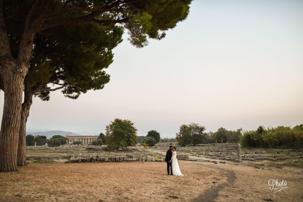 Servizio fotografico matrimonio a Paestum