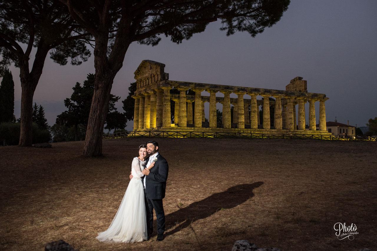 Fotografo di matrimonio a Paestum